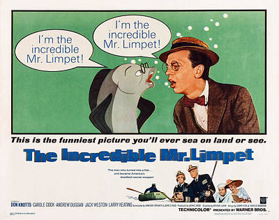 Don Knotts Photograph - The Incredible Mr. Limpet, Us by Everett