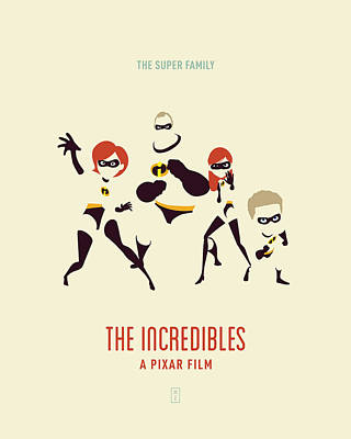 Pixar Digital Art - The Incredibles Retro by Smile In The Mind