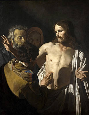 Incredulity Painting - The Incredulity Of Saint Thomas by Matthias Stom