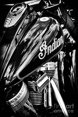 Photograph - The Indian Chief Monochrome by Tim Gainey