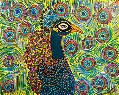 The Indian Peacock Original by Anannya Chowdhury