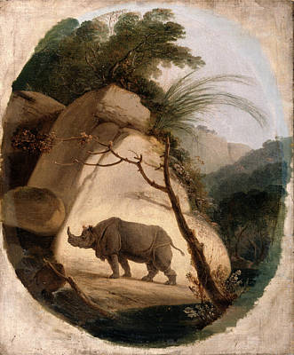 Indian Rhinoceros Painting - The Indian Rhinoceros, Thomas Daniell, 1749-1840 by Litz Collection
