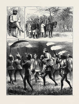 The Indian Tour Of H.r.h. The Prince Of Wales Reminiscences Print by Indian School