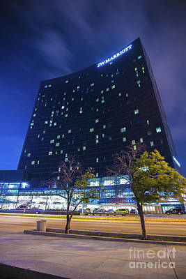 Photograph - The Indianapolis Jw Marriott Night 30 by David Haskett