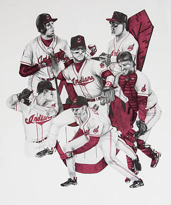 The Indians' Glory Years-late 90's Art Print by Joe Lisowski