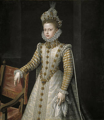 Sanchez Painting - The Infanta Isabel Clara Eugenia by Alonso Sanchez Coello