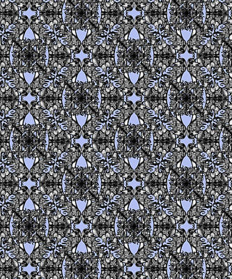 Digital Art - The Infinite Shoe Baby Blue by Deborah Runham
