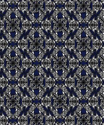 Digital Art - The Infinite Shoe Denim Blue by Deborah Runham