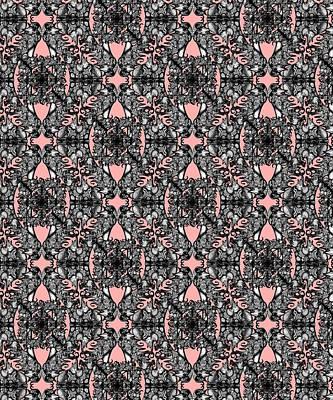 Digital Art - The Infinite Shoe Kitten Pink by Deborah Runham