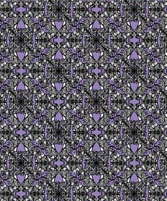 Digital Art - The Infinite Shoe Lilac by Deborah Runham