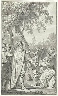 Mercy Drawing - The Inhabitants Of Zierikzee Beg Charles The Bold by Quint Lox