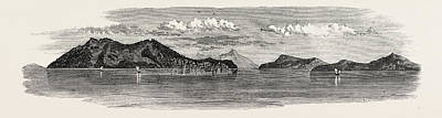 The Inland Sea Of Japan Island And Town Of Osima Art Print by Japanese School