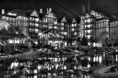 Photograph - The Inn At Christmas Place Night by Greg Mimbs