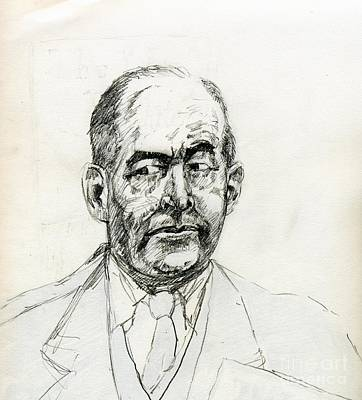 Science Fiction Drawing - The Inner C S Lewis by Whistler Kenworthy