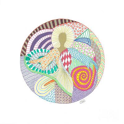 Gift Drawing - The Inner Goddess by Signe  Beatrice
