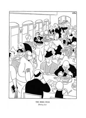 The Inner Man  Dining Car Art Print