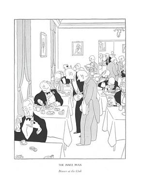 The Inner Man  Dinner At The Club Art Print