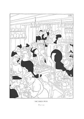 Inner Drawing - The Inner Man  Tearoom by Gluyas Williams