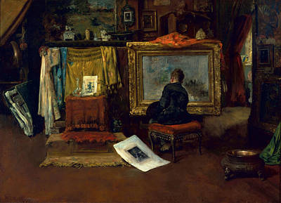 New York Painter Painting - The Inner Studio, Tenth Street, 1882 by William Merritt Chase