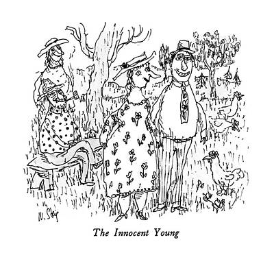 Innocence Drawing - The Innocent Young by William Steig