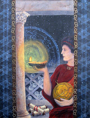 Painting - The Innovator Of Stars - Artwork For The Science Tarot by Janelle Schneider