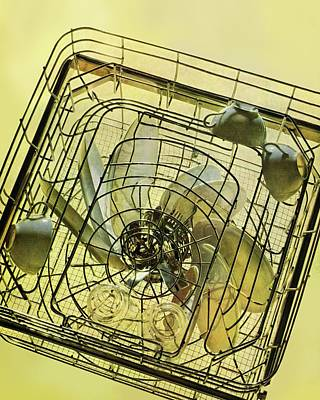 Rack Photograph - The Inside Of A Hotpoint Dishwasher by Herbert Matter