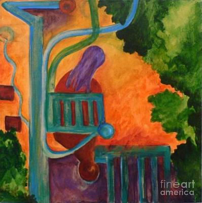 The Inspiration- Caprian Beauty Series 2 Art Print by Elizabeth Fontaine-Barr
