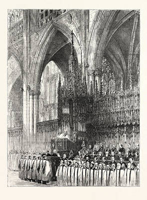 Installation Art Drawing - The Installation By The Dean And Chapter In York Minster by English School