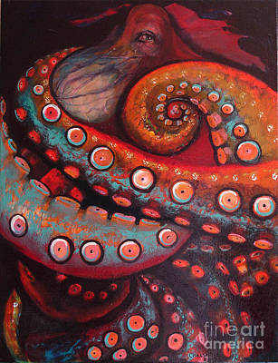 Painting - The Intelligent Eye  by Donna Chaasadah