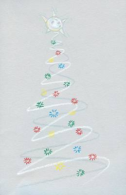 Drawing - The Inter Dimensional Journey Of The Christmas Star by Ralf Schulze