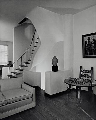Wooden Floors Photograph - The Interior Of A Manhattan House by Tom Leonard