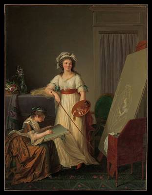 Victoire Painting - The Interior Of An Atelier Of A Woman by Marie Victoire Lemoine