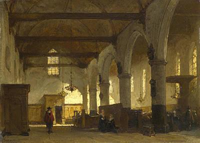 Painting - The Interior Of The Bakenesserkerk. Haarlem by Johannes Bosboom