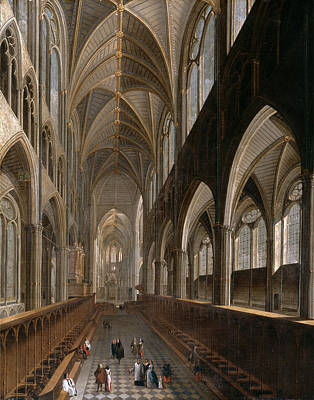Westminster Abbey Painting - The Interior Of Westminster Abbey, London by Litz Collection