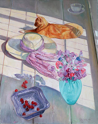 Floral Still Life Painting - The Interloper by Timothy  Easton