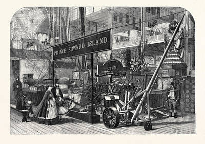 The International Exhibition British Columbia And Prince Art Print by English School