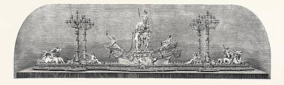 The International Exhibition Plateau And Candelabra Art Print by Messrs. Cristofle Of Paris