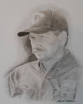 Drawing - The Intimidator by Brent  Mileham