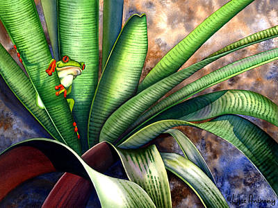 Bromeliad Painting - The Intruder by Lyse Anthony