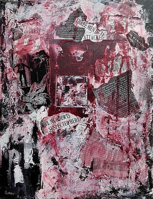 Wall Art - Painting - The Investigation Of Murder And Mayhem by Linda Wimberly