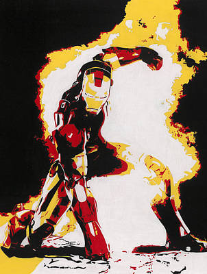 Iron Man Drawing - The Invincible by Daniel Clark
