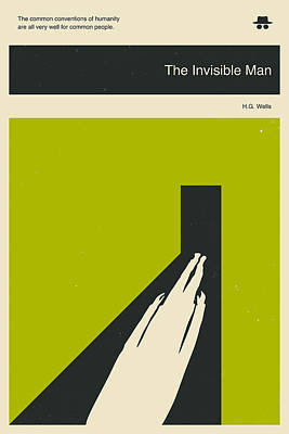Minimalist Book Cover Digital Art - The Invisible Man by Jazzberry Blue