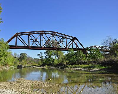 The Iron Bridge Print by Cherie Haines