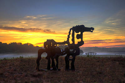 Photograph - The Iron Horse Dawn by Reid Callaway