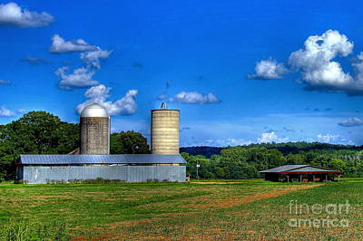 Tons Of Photograph - The Iron Horse Silos by Reid Callaway