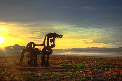Photograph - The Iron Horse Sunrise Bottomland by Reid Callaway