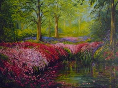 Painting - The Isabella Plantation by Janet Silkoff