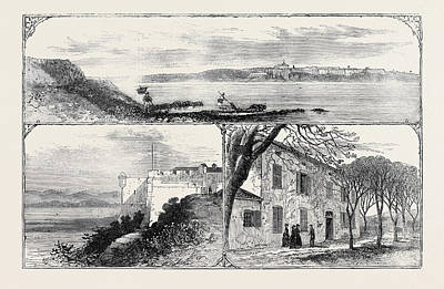 Indoor Drawing - The Island And Fort Of St by English School