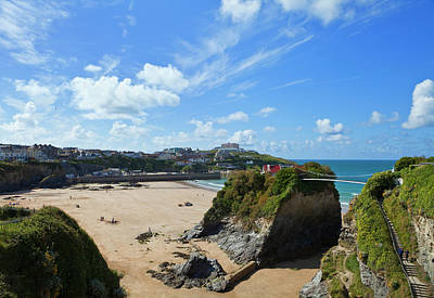 The Island On Towan Beach, Newquay Art Print by Panoramic Images