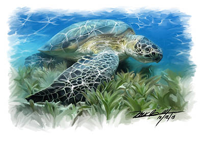 Hawaii Sea Turtle Digital Art - The Islands by Mark Gallegos